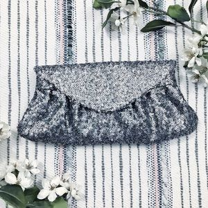 Urban Expressions Charcoal Grey Sequin Clutch